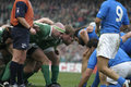 Scrum,Ireland V Italy,6 Nations Rugby Royalty Free Stock Photo