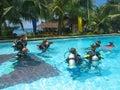 Scuba dive class adventure Royalty Free Stock Photo