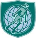 Scuba Diver Diving Dive World Shield