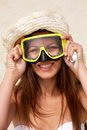 Scuba girl Royalty Free Stock Images