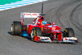 Scuderia Ferrari F1, Fernando Alonso, 2012 Photo libre de droits