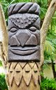 Sculpted melanesian tiki totem in the ile des pins x isle of pines x new caledonia a territory french Stock Photo