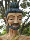 Sculpted monkstående Fotografering för Bildbyråer
