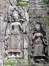 Sculpture of Apsara in Bayon Temple, Cambodia Royalty Free Stock Photo