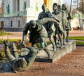 Sculpture based on the famous painting the parable of the blind by pieter bruegel elder installed in tsarskoye selo author Royalty Free Stock Photos