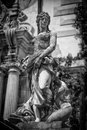 Sculpture black white in sinaia romania Stock Photography