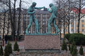 Sculpture of boxers in helsinki finland march image a finland Royalty Free Stock Photos