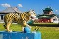 Sculpture of Buddhist Tiger Stock Photos