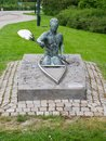 Sculpture of the canoeist from Malmo, Sweden Royalty Free Stock Photo