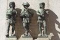 Sculpture of children musicians marianplatz munich germany Royalty Free Stock Image