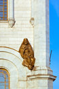 Sculpture on church of christ the savior in moscow russia cathedral Stock Images