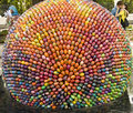 Sculpture of easter egg. Royalty Free Stock Photography