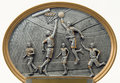 Sculpture en joueurs de basket Photos stock