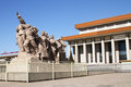 Sculpture in front of Mao mausoleum Royalty Free Stock Photo