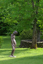Sculpture in garden Stock Photos