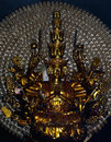 The sculpture of the goddess guanyin in long son pagoda in nha trang vietnam bronze image with a thousand hands Stock Photo