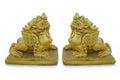 Sculpture of golden lion Stock Image