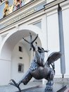 Sculpture Greif griffin at the city gate of Rostock, Germany Royalty Free Stock Photo