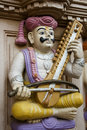 Sculpture of an Indian Musician Royalty Free Stock Photography