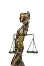 Sculpture of justitia symbol photo for equity and justice Royalty Free Stock Photo