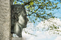 Sculpture king ludwig of at chiemsee in prien germany with bright sun Stock Images