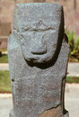 Sculpture la paz pre columbian ancient in bolivia Royalty Free Stock Photo