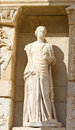 Sculpture in library of celsus ephesus turkey Stock Image