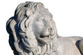 Sculpture of a lion from marble Royalty Free Stock Photos