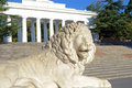 Sculpture of a lion in sevastopol town Stock Images