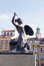 Sculpture in old town Warsaw Royalty Free Stock Photos