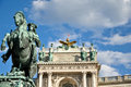 Sculpture of prince eugen at vienna's hofburg Royalty Free Stock Image