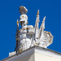 Sculpture on the roof of palace in pavlovsk Royalty Free Stock Image
