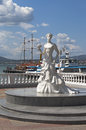 Sculpture White Bride on the promenade of the resort Gelendzhik, Krasnodar Region, Russia