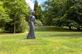 Sculpture of a woman in the grounds chatsworth house in england Royalty Free Stock Photos