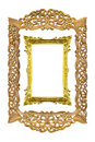 Sculpture wood picture frame isolated Stock Photo
