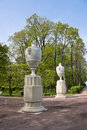 Sculptured vases in Lower Park Stock Photos