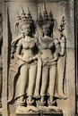 Sculptures at Angkor Wat Stock Images
