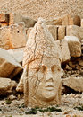 Sculptures of the commagene kingdom nemrut mountain tomb or hierotheseion dağ bears unique testimony to civilization Stock Image