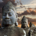 Sculptures of demons of Asia Royalty Free Stock Image