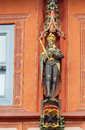 The sculptures on the facade in goslar germany of historic hotels Royalty Free Stock Photos