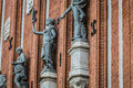 Sculptures on the facade of the house of blackheads in riga lat latvia Royalty Free Stock Image