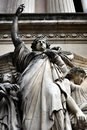 The sculptures of the Grand Opera in Paris Royalty Free Stock Photo