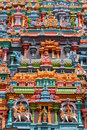 Sculptures on Hindu temple Royalty Free Stock Photo