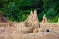 Sculptures made of sand Royalty Free Stock Photo