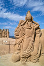 Sculptures made of sand. Stock Image