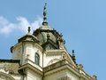 Sculptures on the theatre in kosice old of opera slovakia Royalty Free Stock Image