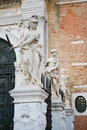 Sculptures in Venice Royalty Free Stock Photography