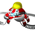 Scutter Crab Robot Repairing Power Cable Royalty Free Stock Photo