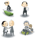 Sd mafia boss or ceo collection set create by vector Stock Photography