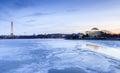 Señales del washington dc en invierno Fotos de archivo libres de regalías